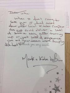 Experienced Kitchen Retailer in Leicester Written Card