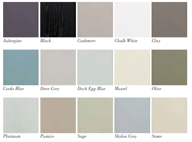 Paint To Order Kitchens from Bettinsons Kitchens Leicester Austin colour options