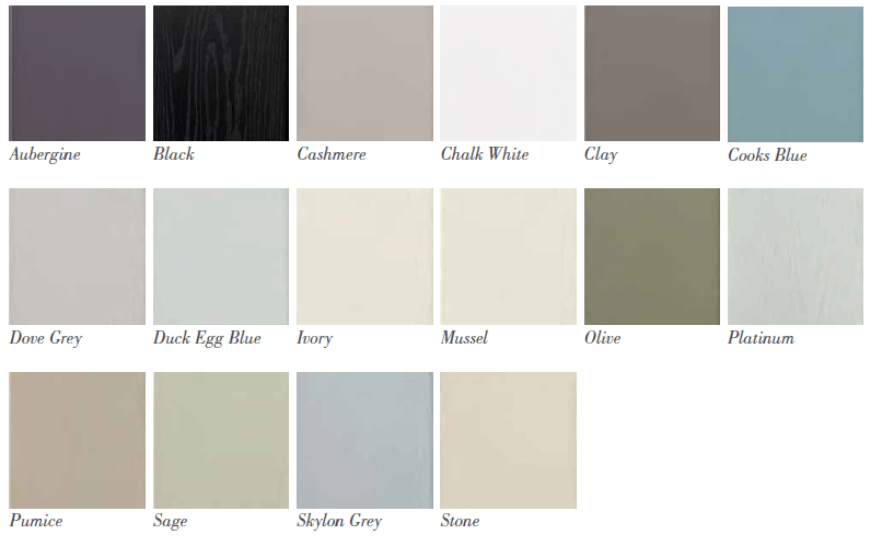 Paint To Order Kitchens from Bettinsons Kitchens Leicester Wexford colour options