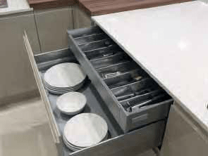 Clever and Stylish Kitchen Storage Solutions from Bettinsons Kitchens Leicester Pan Drawer
