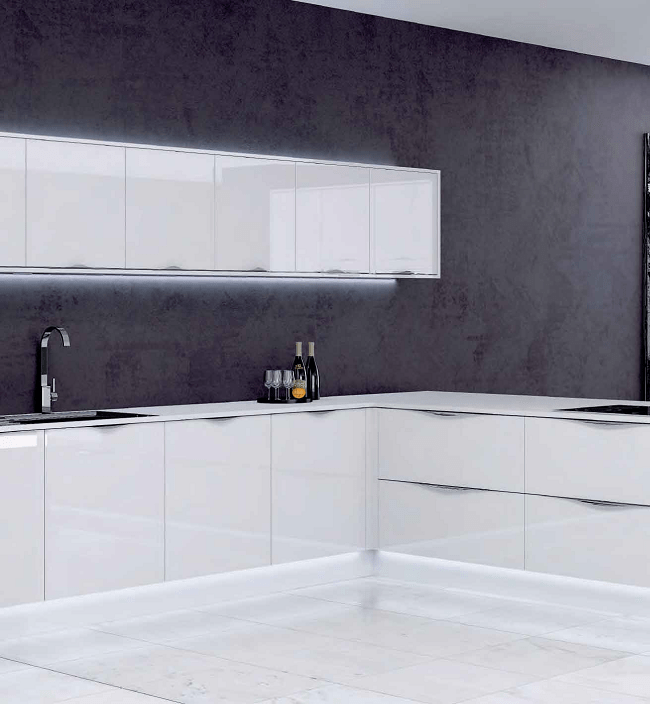 Fabulous New Kitchens at Bettinsons Kitchens Leicester white gloss contemporary